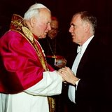 Ambassador Ray Flynn with his friend, Pope John Paul II