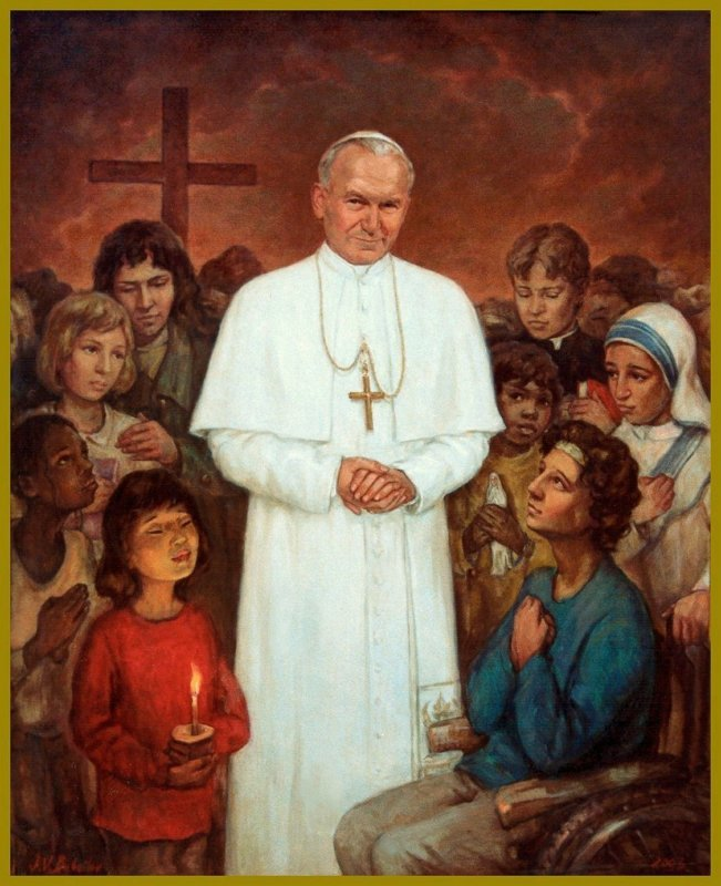 Blessed John Paul the Great, inpiration for Catholics for the Common Good & Stand with Children Project on marriage and family